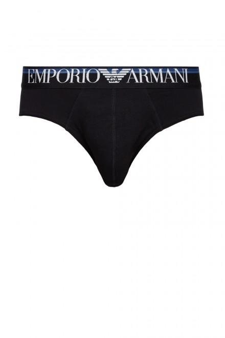 Трусы слипы черные Emporio Armani