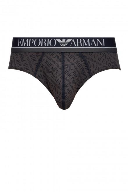 Трусы слипы коричневые Emporio Armani