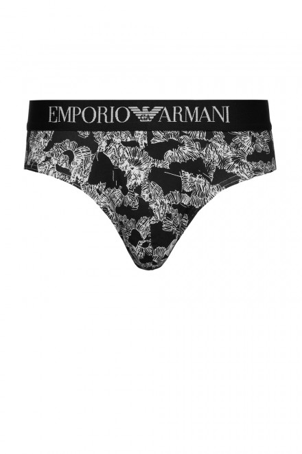 Трусы слипы с принтом  Emporio Armani