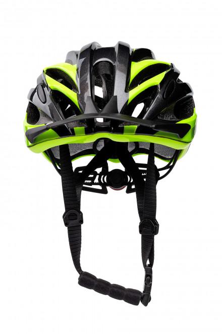 Шлем велосипедный черный с зелеными вставками RH+
