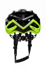 Шлем велосипедный черный с зелеными вставками RH+ 2