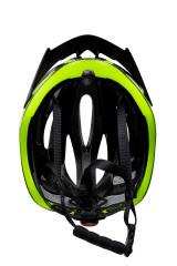 Шлем велосипедный черный с зелеными вставками RH+ 3