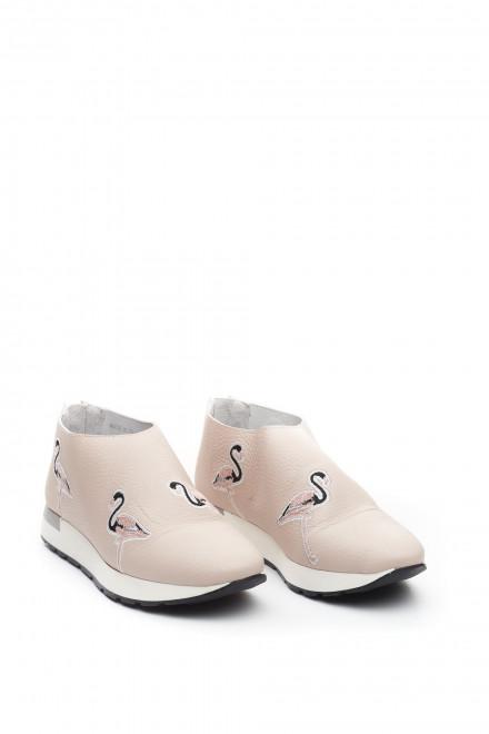 """Кроссовки женские кожаные """"Фламинго"""" Area Forte"""