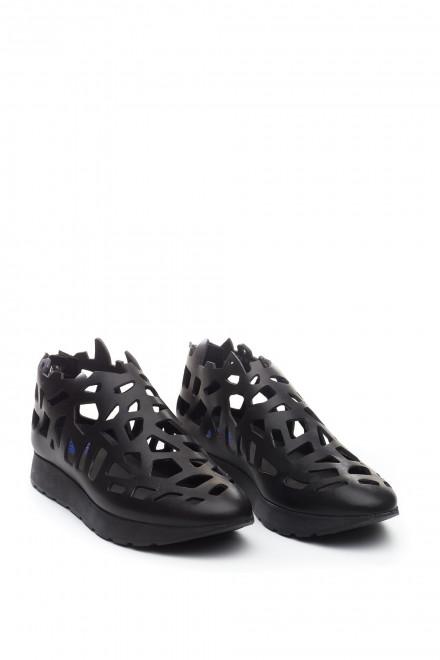 Женские кроссовки из перфорированной кожи Area Forte