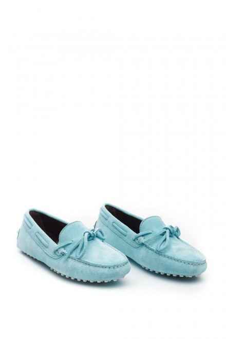 Туфли женские мягкие кожаные мокасины мятные Perrone