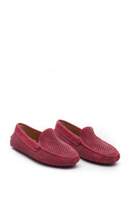 Туфли женские мягкие с перфорацией (лоферы) Perrone