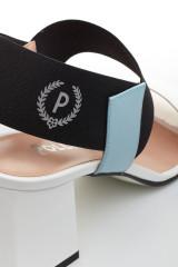 Босоножки женские кожаные на широком каблуке Pollini 3