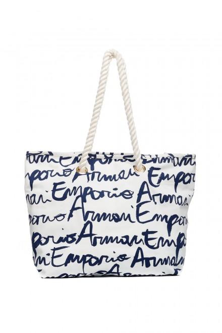 Сумка женская пляжная с ручкой-веревкой Emporio Armani