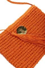 Сумка женская плетеная оранжевая Seafolly 1