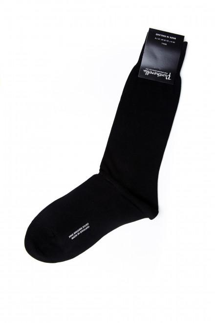 Носки мужские черные гладкие Pantherella