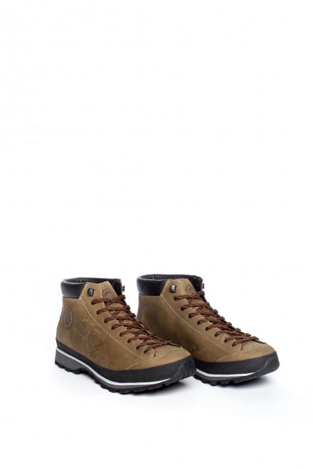 Ботинки мужские высокие светло-коричневые на широкой подошве Lomer