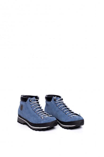 Ботинки женские синие высокие на шнуровке Lomer