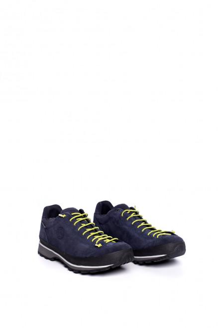 Туфли спортивные мужские темно-синие на шнуровке Lomer