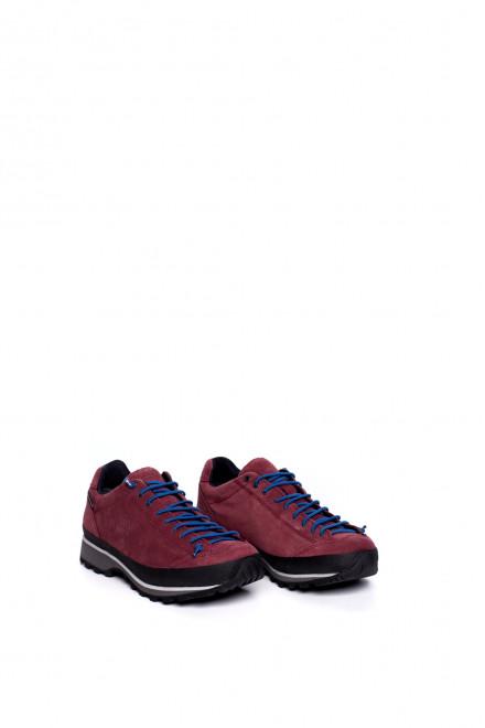 Туфли спортивные женские бордовые на шнуровке Lomer