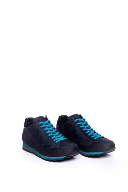 Полуботинки мужские темно-синие на шнуровке Lomer