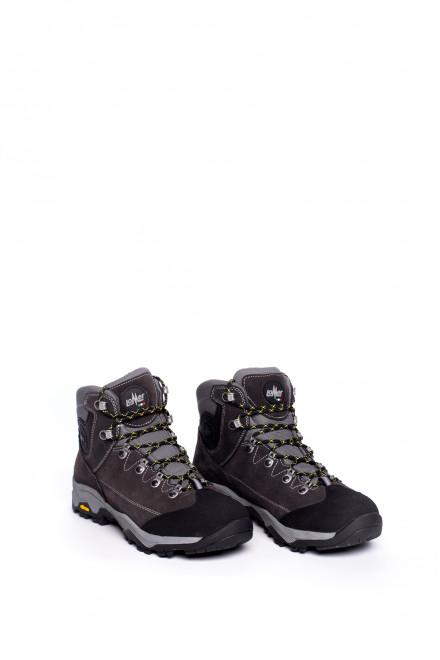 Ботинки мужские серые с черными вставками Lomer