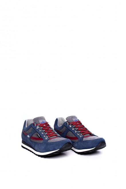 Туфли спортивные мужские синие с контрастными вставками Lomer