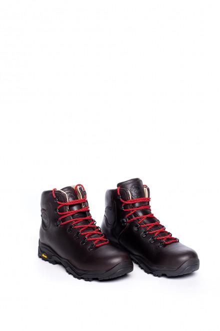 Ботинки мужские высокие коричневые на шнуровке Lomer