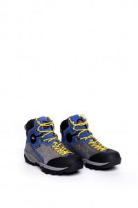 Ботинки серые с синими вставками Lomer