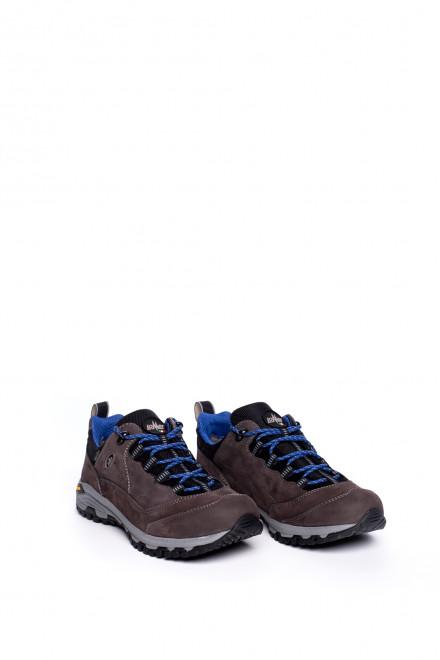 Туфли спортивные мужские коричневые на шнуровке Lomer