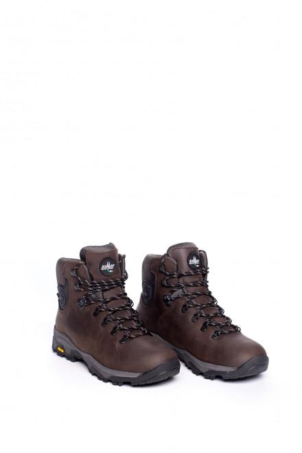 Ботинки коричневые высокие на толстой подошве Lomer