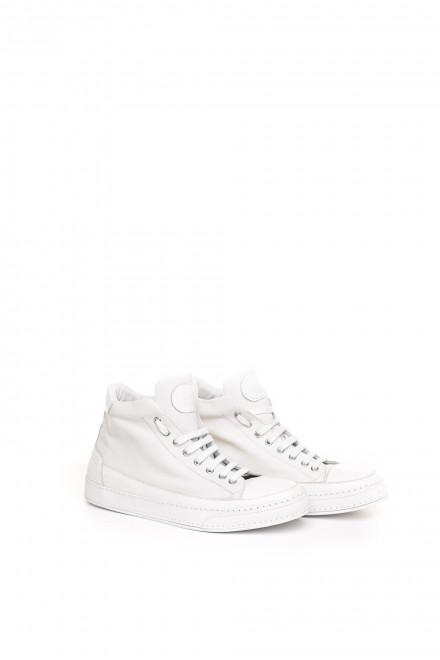 Туфли спортивные мужские белые высокие на шнурках Candice Cooper