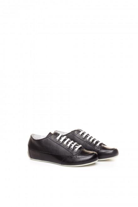 Туфли спортивные мужские черные на шнуровке Candice Cooper