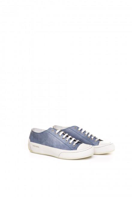 Туфли спортивные мужские кожаные голубого цвета на толстой подошве Candice Cooper