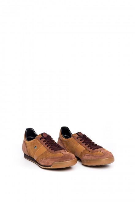 Туфли мужские спортивные коричневые на шнуровке Botas