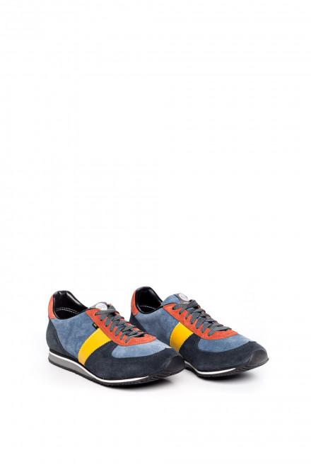 Туфли спортивные мужские синие с разноцветными вставками Botas