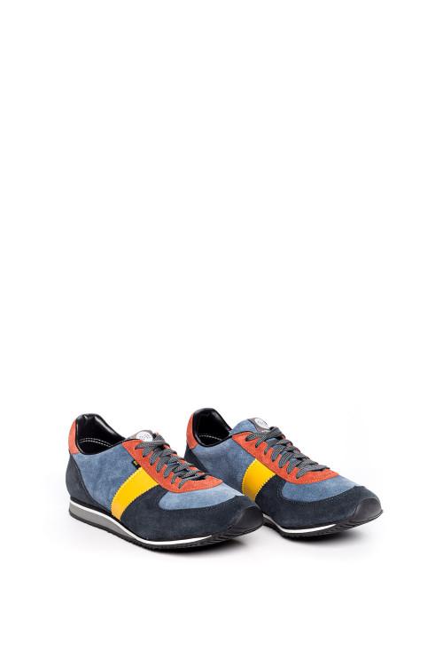 Кроссовки мужские синие с разноцветными вставками Botas