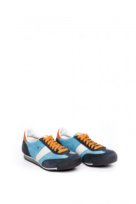 Кроссовки мужские синие с цветными вставками  Botas