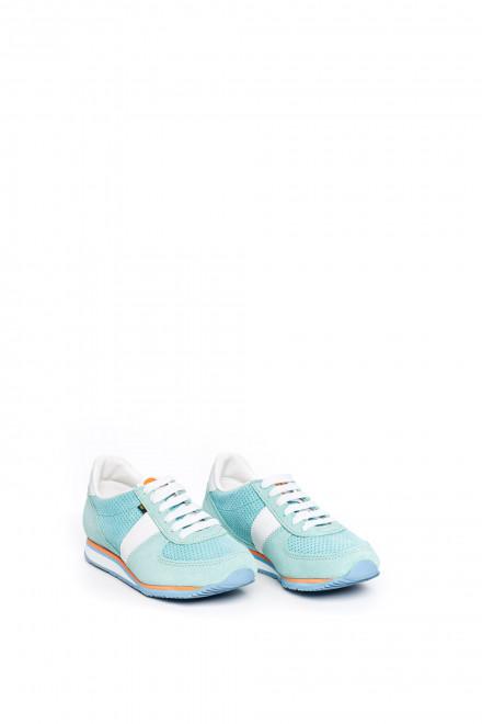 Кроссовки женские мятные на шнуровке Botas