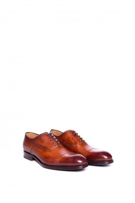 Туфли мужские (оксфорды) коричневые с отрезным носком Magnanni