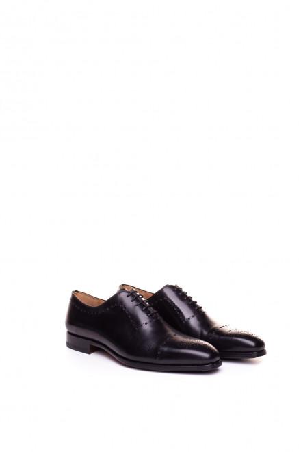 Туфли мужские черные окфорды броги  Magnanni