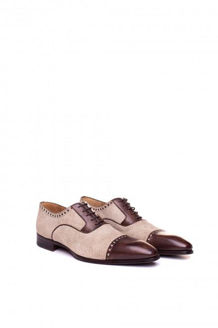 Туфли мужские из комбинированных материалов Magnanni