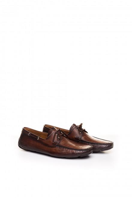 Мокасины мужские кожаные коричневые Magnanni
