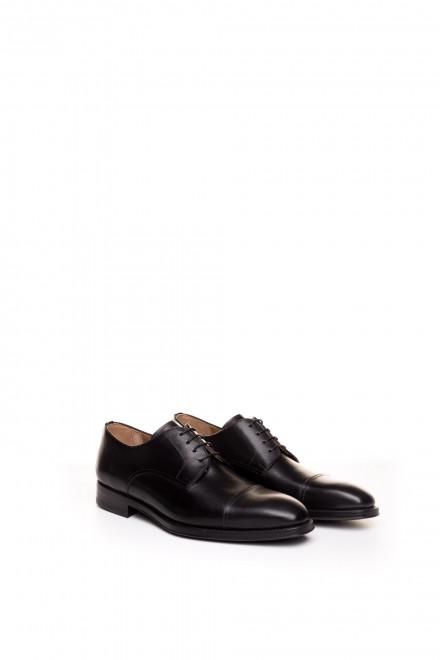 Туфли мужские классические черные из натуральной кожи Magnanni