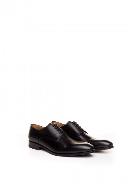 Туфли мужские дерби черные кожаные Magnanni