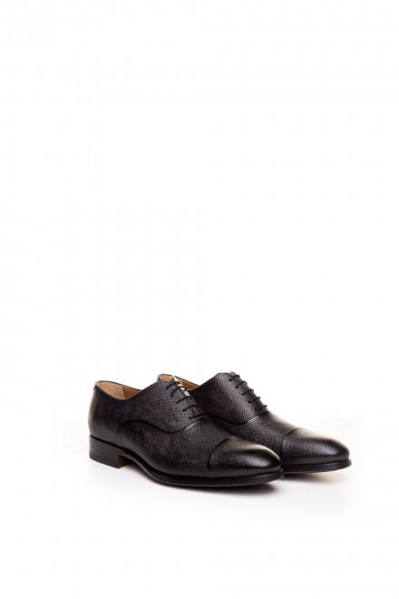 Туфли мужские оксфорды с отрезным носком черные Magnanni