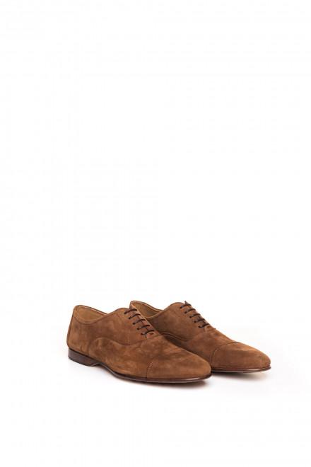 Туфли мужские оксфорды из нубука коричневые Magnanni