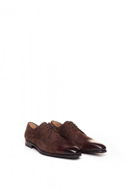 Туфли мужские дерби нубуковые с отрезным носком Magnanni