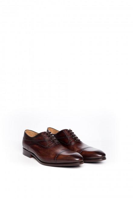 Туфли мужские оксфорды коричневого цвета Magnanni