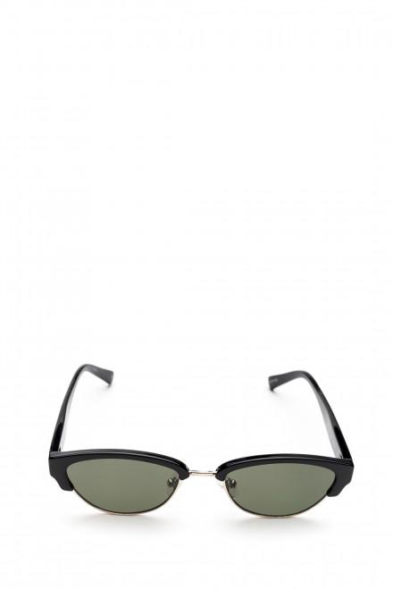 Сонцезащитные очки со встроенным металлическим ободком и зеленым градиентом Le Specs