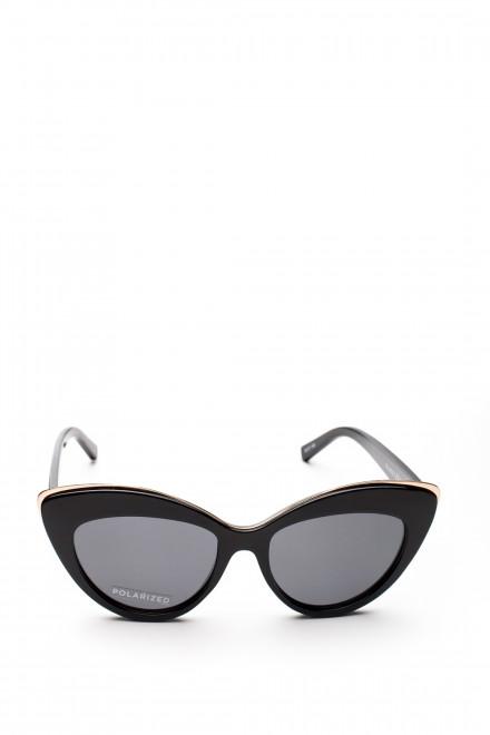 Солнцезащитные очки в черной оправе с верхней металлической рамкой Le Specs