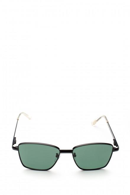 Солнцезащитные очки унисекс с чехлом и салфеткой в металлической оправе Le Specs