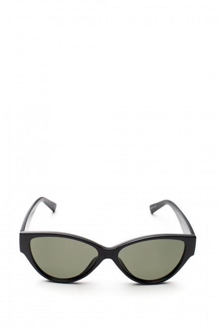 Солнцезащитные очки  с черной оправе и зеленым градиентом Le Specs