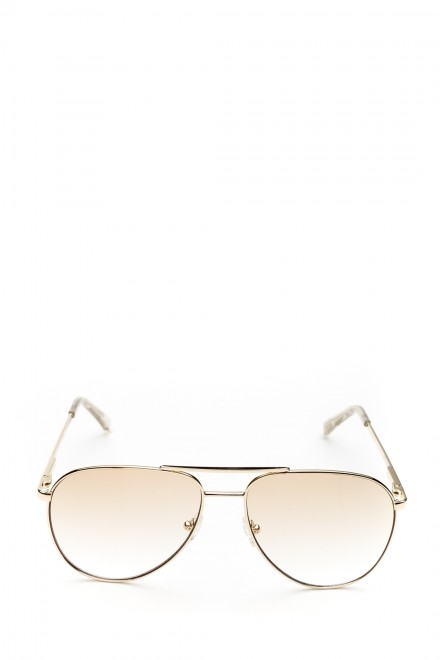 Солнцезащитные очки унисекс в металлической оправе  с чехлом и салфеткой Le Specs
