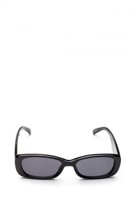 Солнцезащитные очки женские черные прямоугольной формы c серым градиентом Le Specs