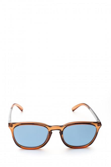 Солнцезащитные очки мужские в коричневой оправе с синим градиентом Le Specs